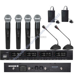 First-Class Digital Wireless Audio Microphone Mic System - 4 Handheld 2 Lavalier 2 Meeting Conference Desktop Gooseneck Mic