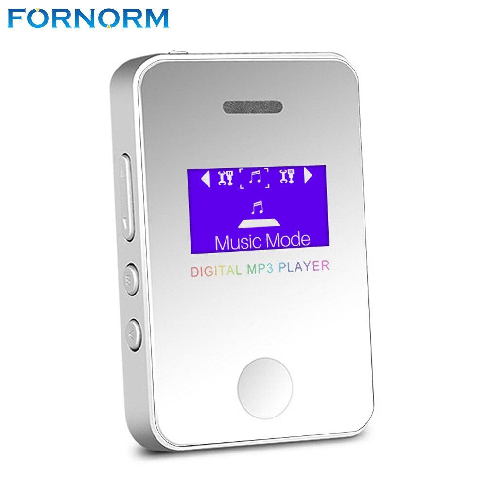 Tragbares Audio & Video Fornrom 16 Gb 1,1 Inch Tragbare Digitale Mp3 Player Mit Lautsprecher Mini Größe Mp3 Musik Player Usb Lade Unterstützung Micro Sd Karte