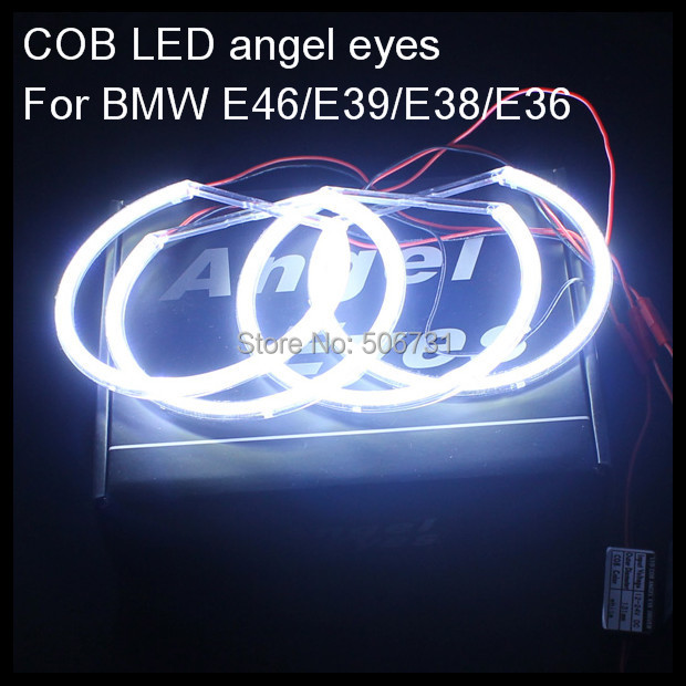 buy for bmw e38 e36 e39 e46 led angel eyes rings cob led halo rings kit for bmw. Black Bedroom Furniture Sets. Home Design Ideas