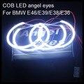 Para BMW E36 E38 E39 E46 LED COB LED de halo angel eyes anillos kit de anillos para BMW E46 con el proyector 4*131mm LED angel eyes para BMW
