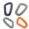 Shackle Carabiner Clip Webbing Backpack Buckle Snap Lock Hike Mountain climb Outdoor Climbing Accessories