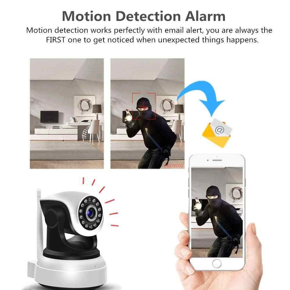 Kamera Wifi Nirkabel Ip Kamera dengan Malam Visi Dalam 2 Way Audio, multi Pengguna PTZ Deteksi Gerak Bayi Hewan Peliharaan Cam Camhi Aplikasi