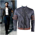halloween Cosplay Costume fashion winter leather Xmen jacket leather Xmen costume men motorcycle jacket XS-XXXL