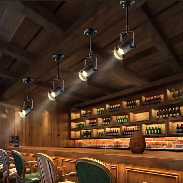 Online Shop Vintage Plafondverlichting Black Iron LED Plafondlamp ...