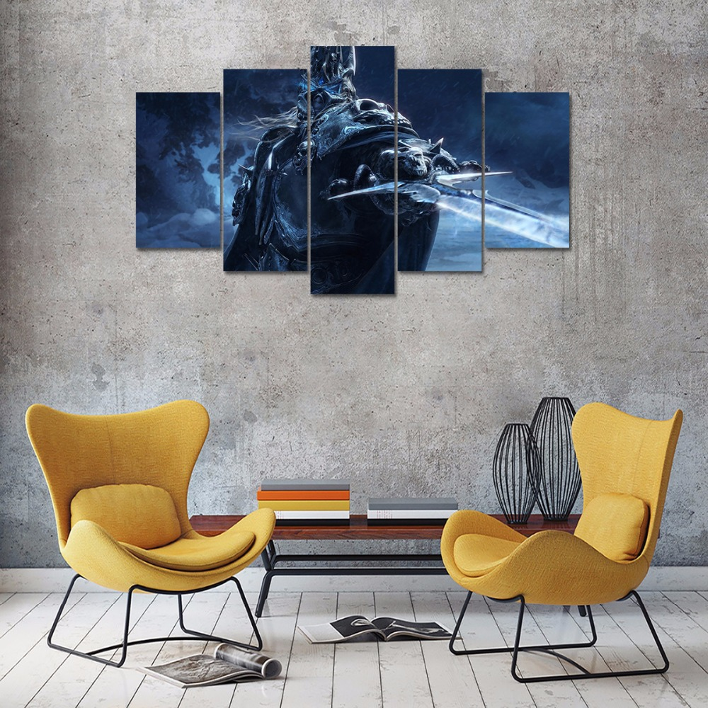 Game Poster 5 Panel Printed Canvas Painting World Of