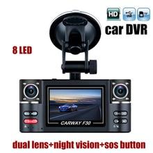 """2.7 """"TFT LCD Автомобильный ВИДЕОРЕГИСТРАТОР полный HD1080P Двойная Камера с Поворотом объектива SOS Вождения Автомобиля Цифровой Видеорегистратор Видеокамера Ночного видения"""