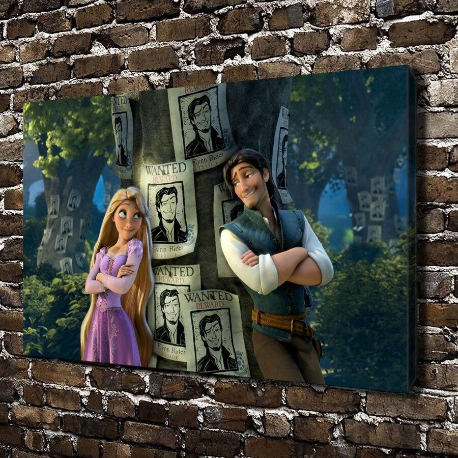 ▽0419 Flynn Rapunzel niños dibujos animados Películas, lona HD ...