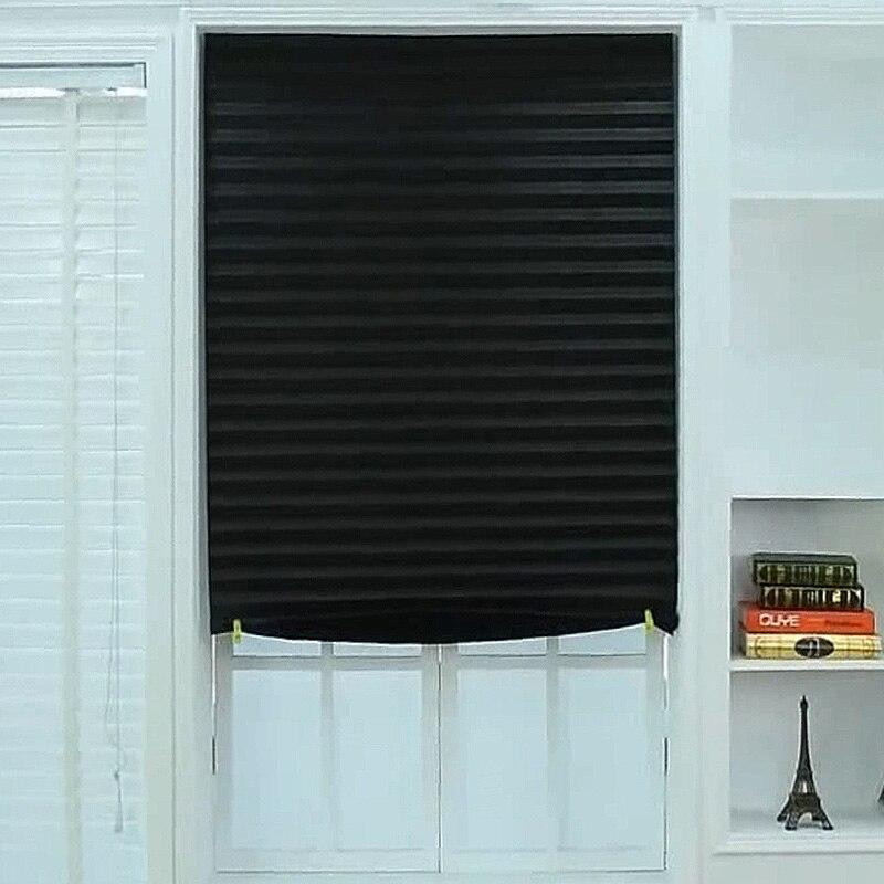 Nouveautés stores plissés auto-adhésifs rideaux De chambre occultants modernes rideaux De fenêtre occultants Cortinas Para Sala De Estar