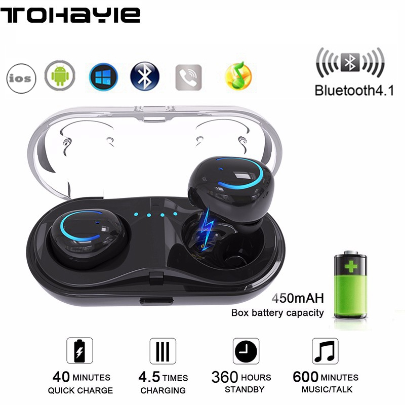 ToHayie Q18 TWS Mini Wireless Bluetooth Headset Earphones HiFi Earbuds Auriculares Bluetooth fone de ouvido Music Phone Ear Buds headset bluetooth fones de ouvido bluetooth wireless earbuds in ear fone de ouvido bluetooth mini bluetooth headset qcy50