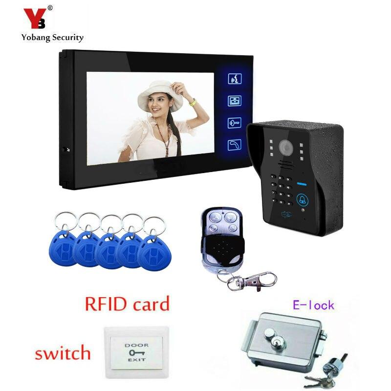 Yobang Security 7Video Intercom Video DoorBell Phone Home Security Camera Monitor color door bell speakerphone Intercom