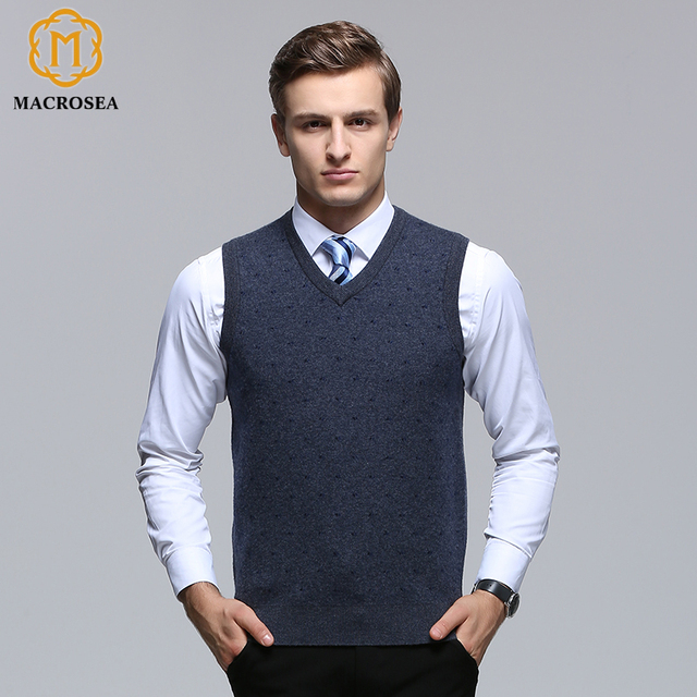 MACROSEA 100% Merino Wool Geometric Dot Pattern Male Formal Casual ...