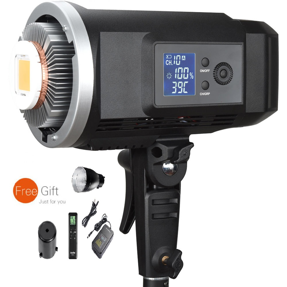 Godox SL Series SLB60Y Yellow LED Video Light 60WS 3300K Color Temperature Lithium Battery 11.1V 8700mAH Bowens Mount