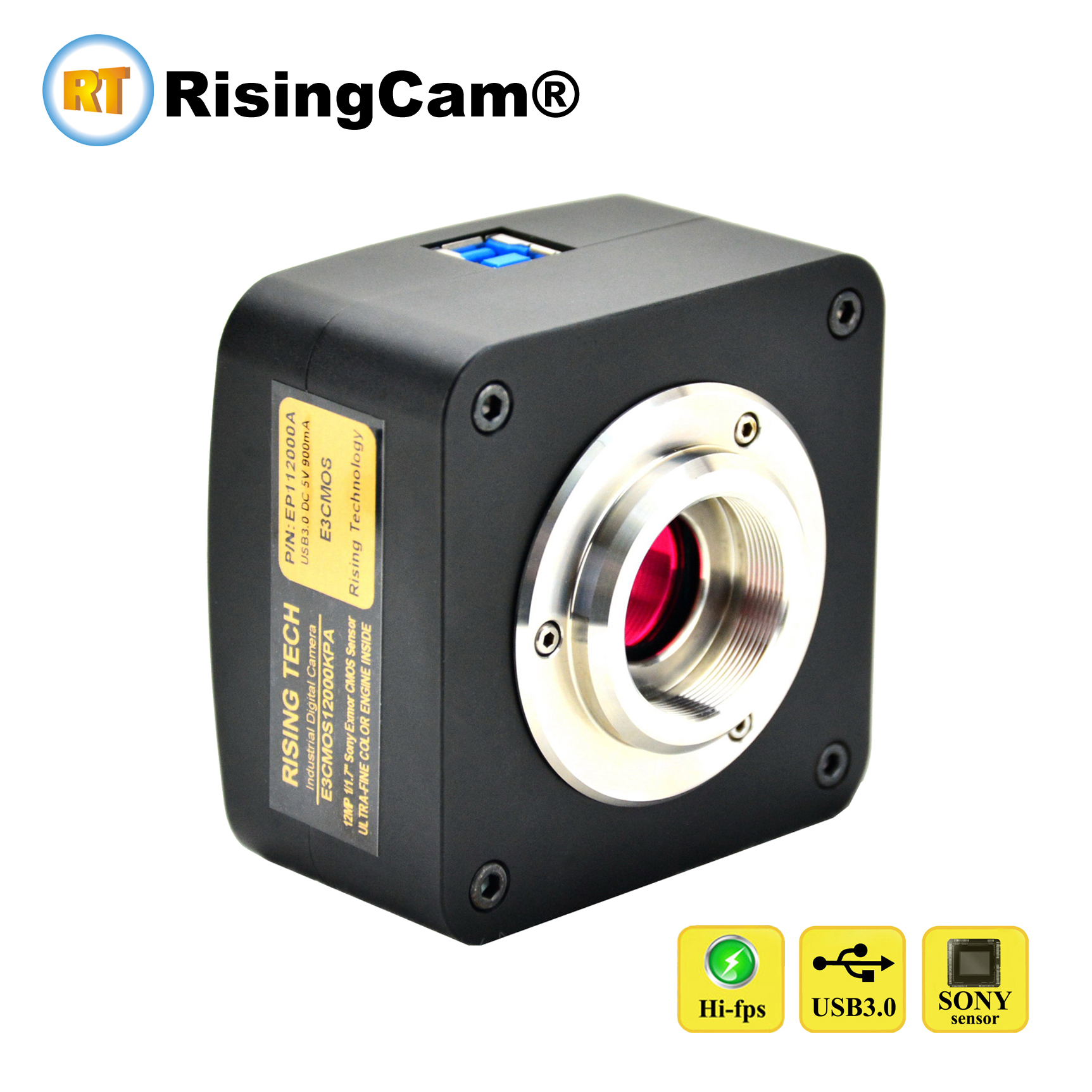 High Sensitivity 50fps 5 0MP SONY imx264 sensor USB3 0 Microscope Camera for Darkfield and fluorescent