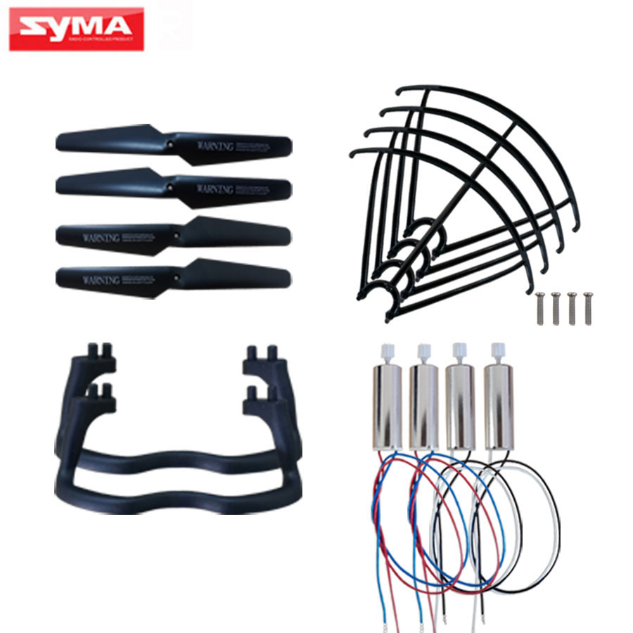 5Color Replacement Accessories For Syma X5 X5C Quadcopter Spare Parts Motor + Propeller Blade + Protection Frame RC Drone Parts for syma x8c x8w rc quadcopter spare part blade propeller protection frame protector bumper 4pcs free shipping