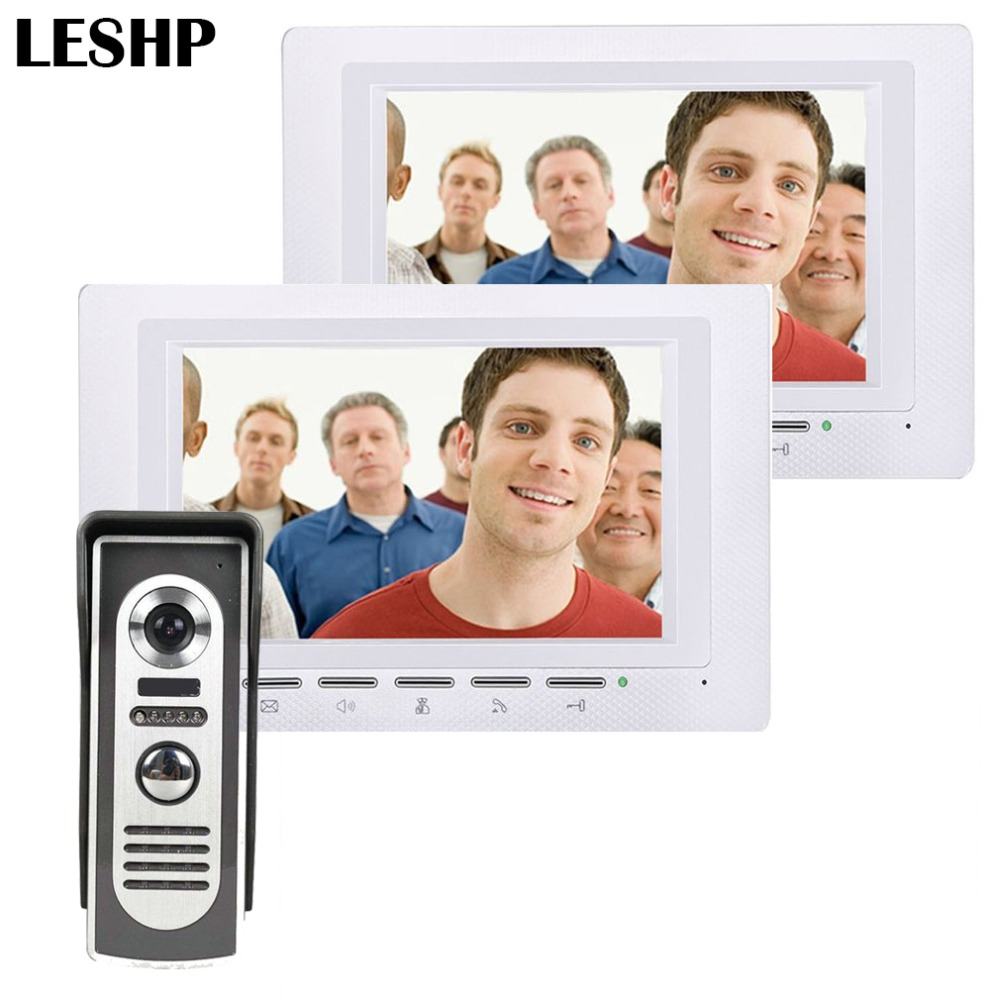 7 inch Video Door Phone Doorbell TFT LCD Screen With Security Outdoor Camera Night Vision Access Control System + 2 monitors 1v3 doorbell camera 2 4ghz video wireless videocitofono video door phone with 3 indoor monitors for door access security