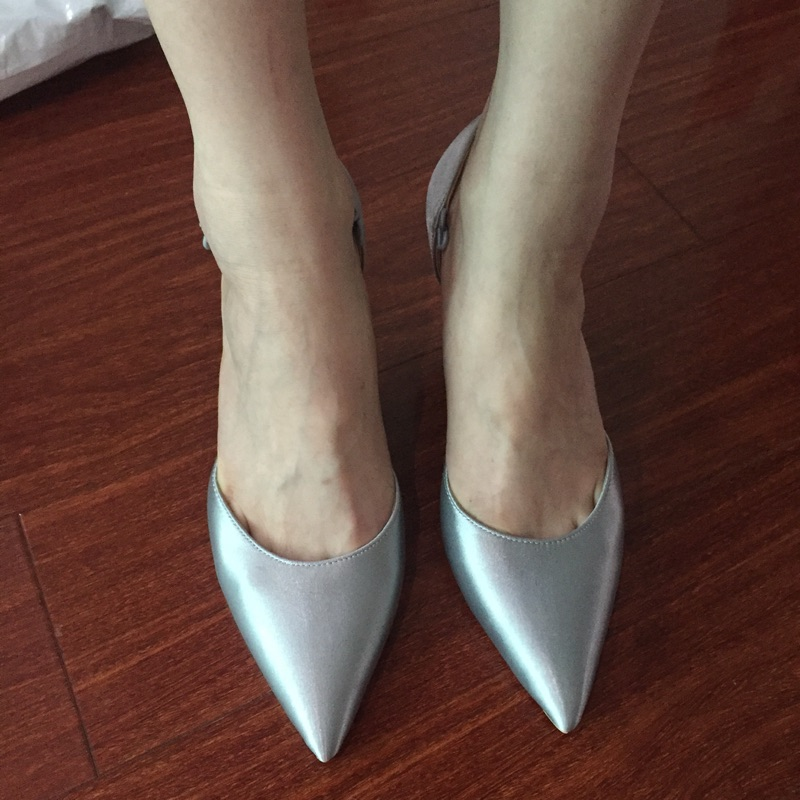 ФОТО Beautiful Bling Bling Removeable Crystal High Heels Point Toe Pumps Shoes Woman's Sandals Thin Heels Shoes Party Wedding Shoes