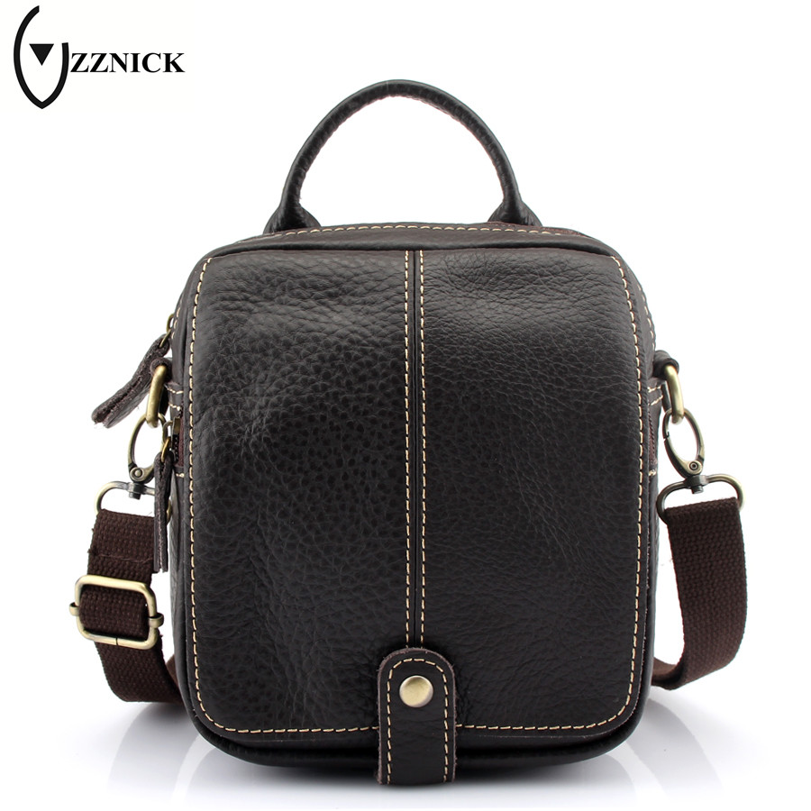 ZZNICK 2017 New Hot Sale Genuine Leather Men Bag Fashion Men Messenger Bag Satchels Small Business Crossbody Shoulder Bags high quality 2015 new hot sale genuine cowhide leather men bag fashion men messenger bag small business crossbody shoulder bags