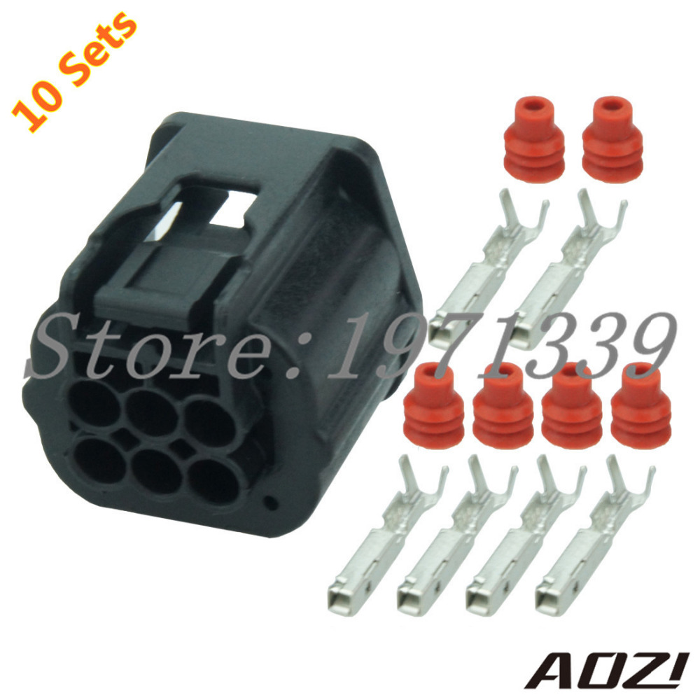 10 Sets Kit 6 Pin Auto Wire Harness Waterproof Connector Adapter Kits 7283 9332 30 1