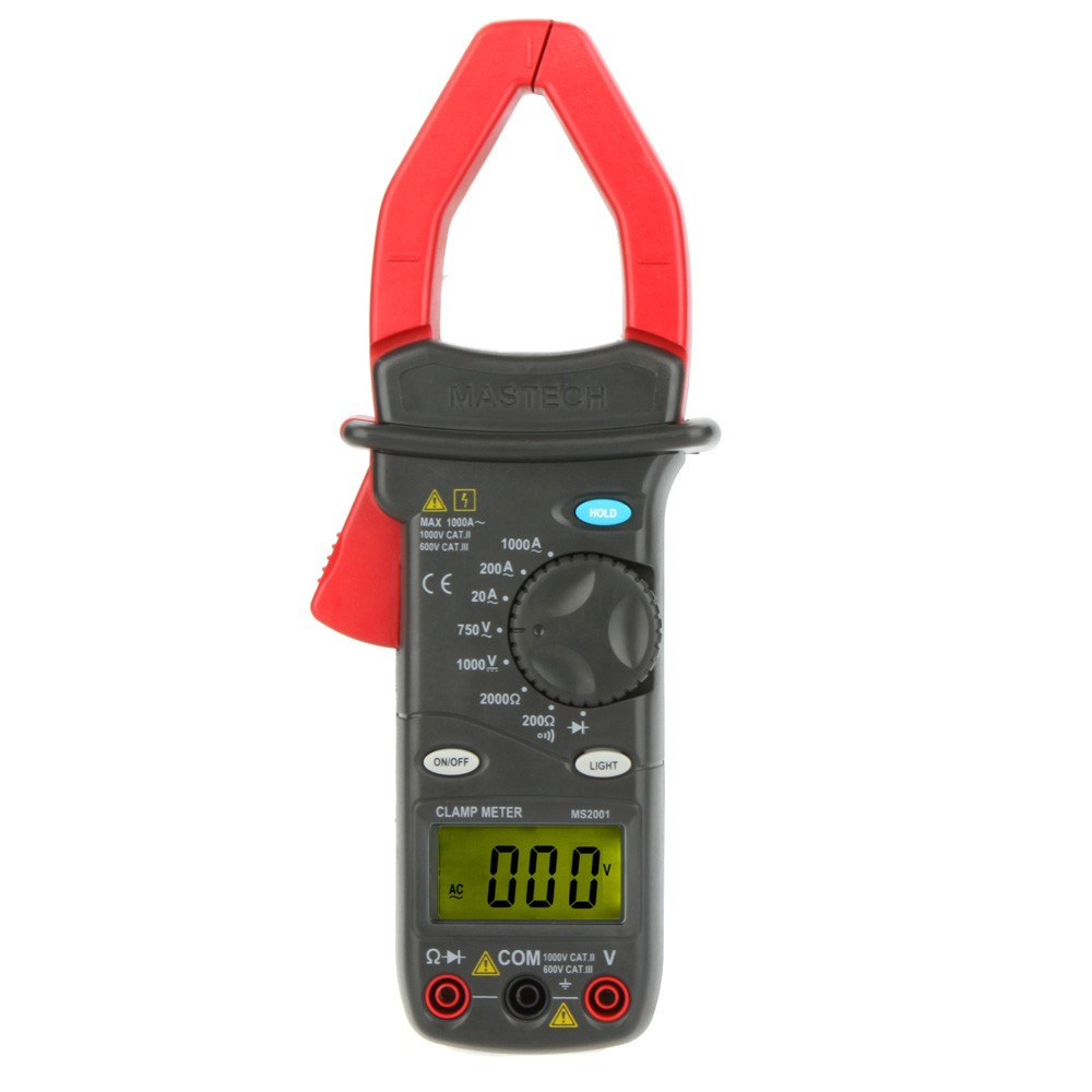 Free shipping Mastech LCD display 1999 counts MS2001 Digital AC/DC Clamp Meter