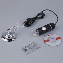Discount! Magnifier 50X~500X Magnification Measure Practical Electronics 2MP USB 8 LED Digital Camera Microscope Endoscope