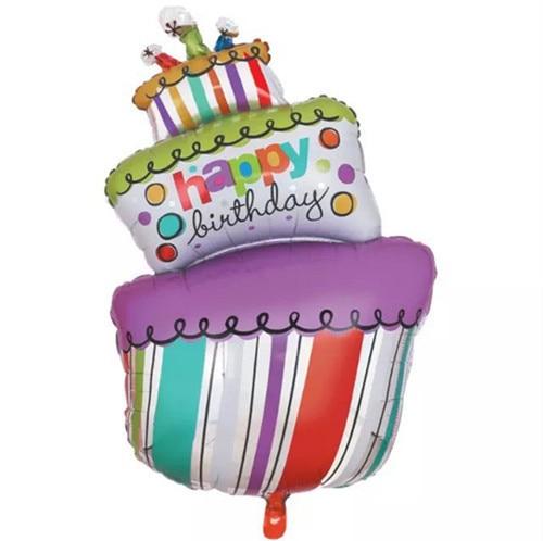 1pcs Large Size Birthday Cake Foil Balloons Happy Birthday Party