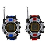 Горячая продажа 2 шт Детская игрушечная рация детские наручные часы интерфон открытый