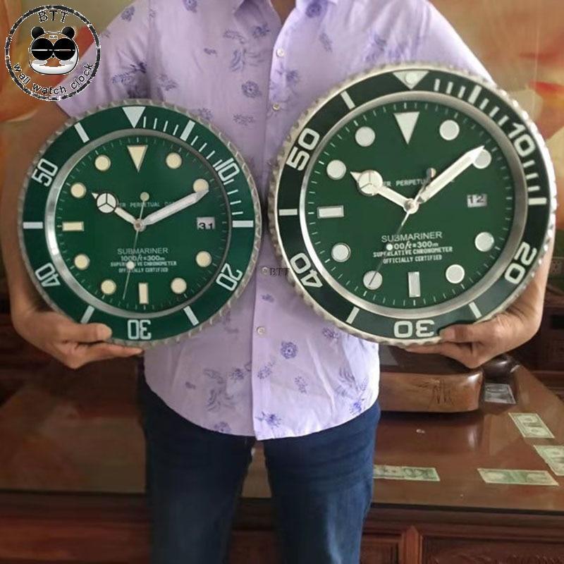 Luxury Modern Design Metal Wall Clock Art Pow Patrol Wall Watch Clocks Mechanism Home Decor Wall Clocks 34cm /38cm-in Wall Clocks from Home & Garden    1