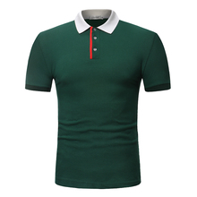 2018 summer style Tops brand polo shirt cotton male causal fashion patchwork color slim short sleeved POLO Shirt men large size
