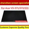 """Completa nuevo 15.6 """"lcd b156xtn03.1 pantalla asamblea del digitizador de la pantalla táctil para acer aspire v5-571 v5-571p v5-571pg + embellecedor frontal"""