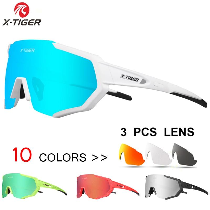 Cycling Sunglasses Bicycle Goggles Glasses Eyewear 3 Lens Mountain Bike Racing
