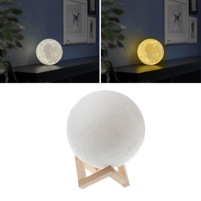 YAM 18cm 3D USB LED Magical Moon Night Light Table Desk Lamp Birthday Gift