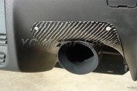 Araba Aksesuarları Karbon Fiber VS Stil Arka Tampon Egzoz Isısı Için 2 Adet Fit 2008-2012 EVO 10 X egzoz Isı Kalkanı