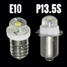 3v 6v p13. lâmpada led 5S e10 para lanterna, para substituição, lâmpada led 0.5w, luz de trabalho, 60 100lumen, branco, dc 3v 6v