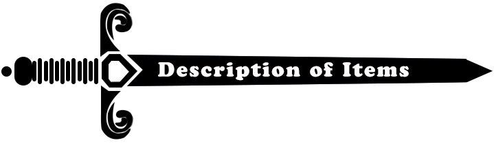 Description of items