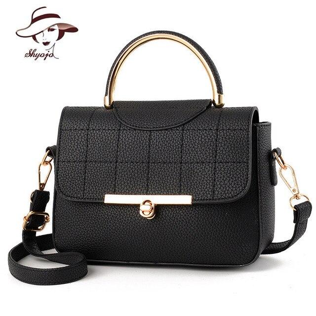 bca3af045da0 SHYOJO New Fashion Luxury Women Messenger Bags Casual Tote Women s Single  Shoulder Clutch 2018 Message Bag Ladies Handbag Minni