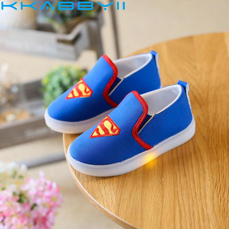 Kids Spiderman Shoes Baby Canvas Light Sneakers LED Sneakers Kids Shoes For Boys Girls Chaussure EnfantKids Spiderman Shoes Baby Canvas Light Sneakers LED Sneakers Kids Shoes For Boys Girls Chaussure Enfant