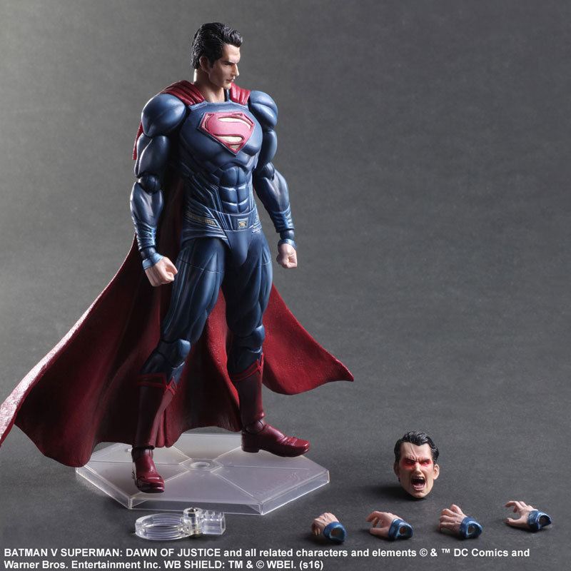 SAINTGI  Batman v Superman Dawn of Justice Superman Action Figure DC Super Heroes PVC 25CM Collection Model Kids Toy play arts xinduplan dc comics play arts kai justice league batman reloading dawn justice action figure toys 25cm collection model 0637