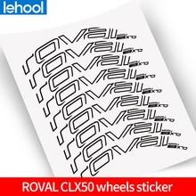 ROVAl CLX50 זוג גלגלי מדבקות עבור כביש אופני 700C אופניים roval נימוק מכריע פחמן מדבקות חליפת עבור 50mm עומק שני גלגלים מדבקות
