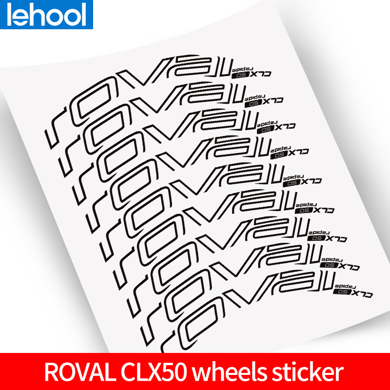 ROVAl CLX50 Wheelset Stickers for Road bike <font><b>700C</b></font> <font><b>bicycle</b></font> roval Carbon Clincher decal suit for 50mm depth two <font><b>wheels</b></font> decals image