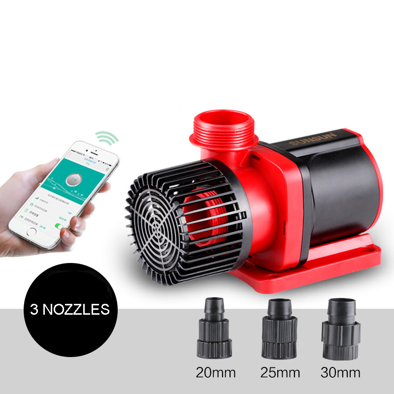 NCFAQUA Controllable DC Water Pump Speed Variable Submersible Circulation Pump with WIFI Controller for Aqua Fish Tank 10000L/h