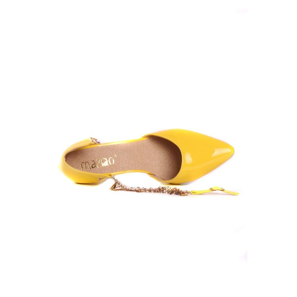 Del De 33 47 Maziao Zapatos Borla Dedo rosado Pie caqui Puntiagudo Tamaño Bling Oro Altos Los Amarillo blanco Piezas Bombas Dos amarillo Mujer Sexy Las Gran Mujeres Tacones Bqw1X0q