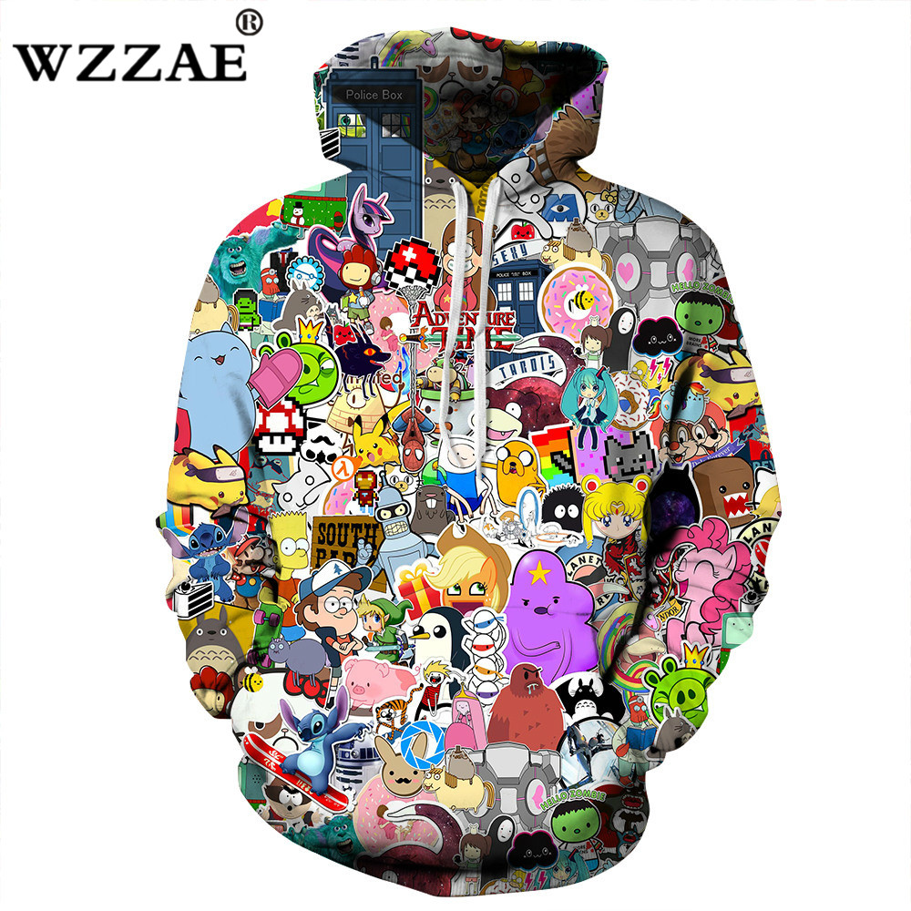 2018 Neues Design Anime Hoodies Männer/frauen 3d Sweatshirts Mit Hut Hoody Unisex Anime Cartoon Kapuze Hoodeis Mode Marke Hoodies So Effektiv Wie Eine Fee