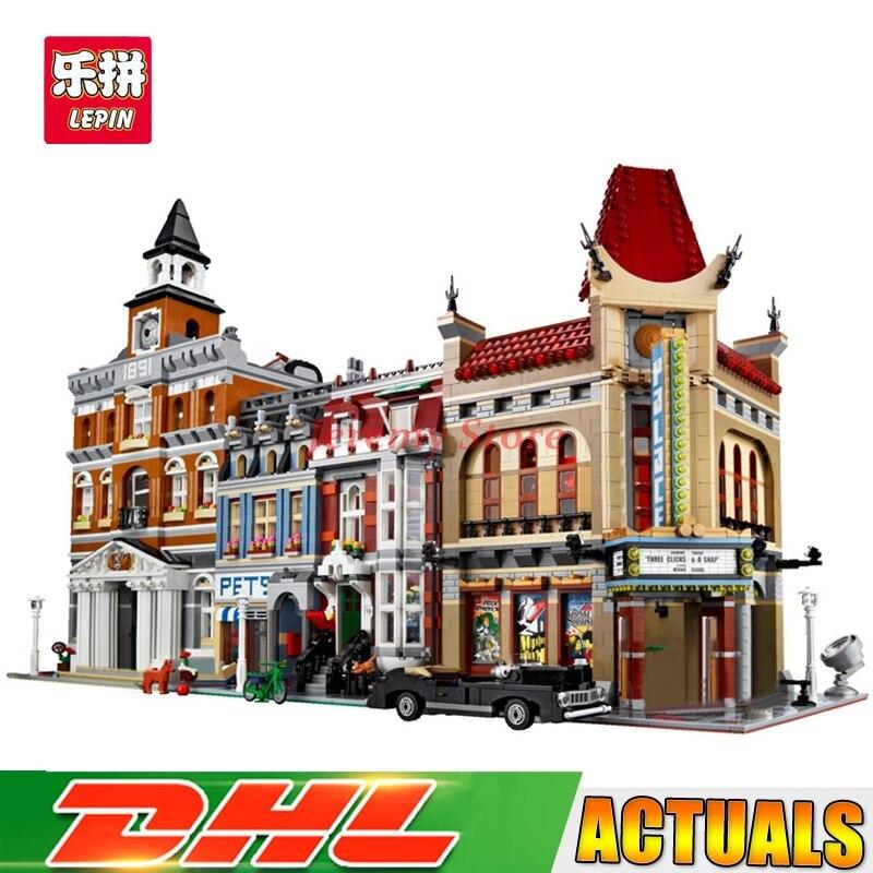 где купить Lepin Street View Series 15003+15006+15009 Educational Building Blocks Bricks Model Toys Christmas Gifts 10224 10232 10218 по лучшей цене