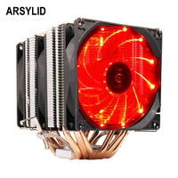 ARSYLID CN 609 P CPU cooler 9cm fan 6 heatpipe dual tower cooling for Intel LGA775 1151 115x 1366 2011 for AMD AM3 AM4 radiator