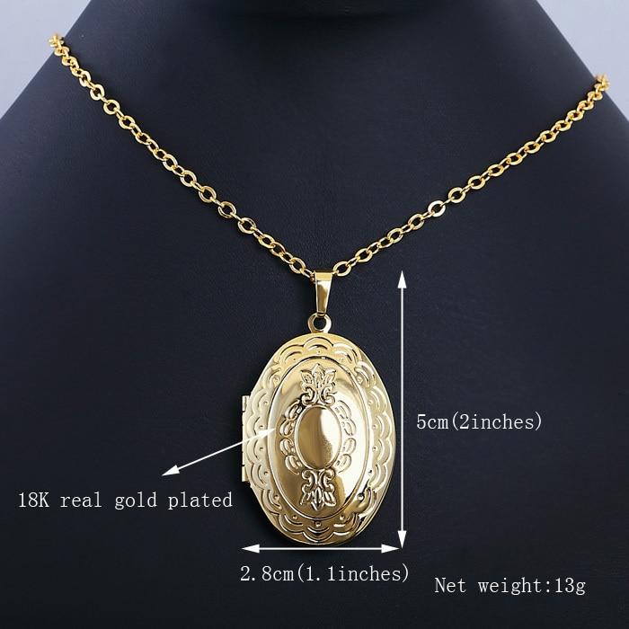 0390507e378f2 Vintage Oval Locket Pendant Women Men Jewelry Wholesale 18K Gold Platinum  Plated Classic European Pendant Necklace NK003 em Pingente Colares de Jóias  ...