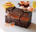 MINI dollhouse miniature  Mini furniture model accessories for leather suitcase Vintage Twill