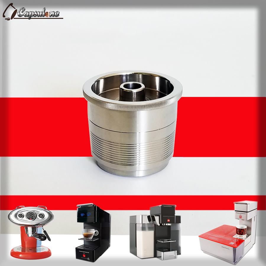 Capsulone/STAINLESS STEEL Metal capsule compatible illy coffee Machine Refillable Reusable capsule/gift compatible illy cafe