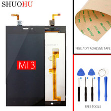Qualidade AAA! Tested LCD Screen 5.0 inch For Xiaomi m3 mi3 mi 3 LCD Touch Digitizer Screen black Assembly Free shiping