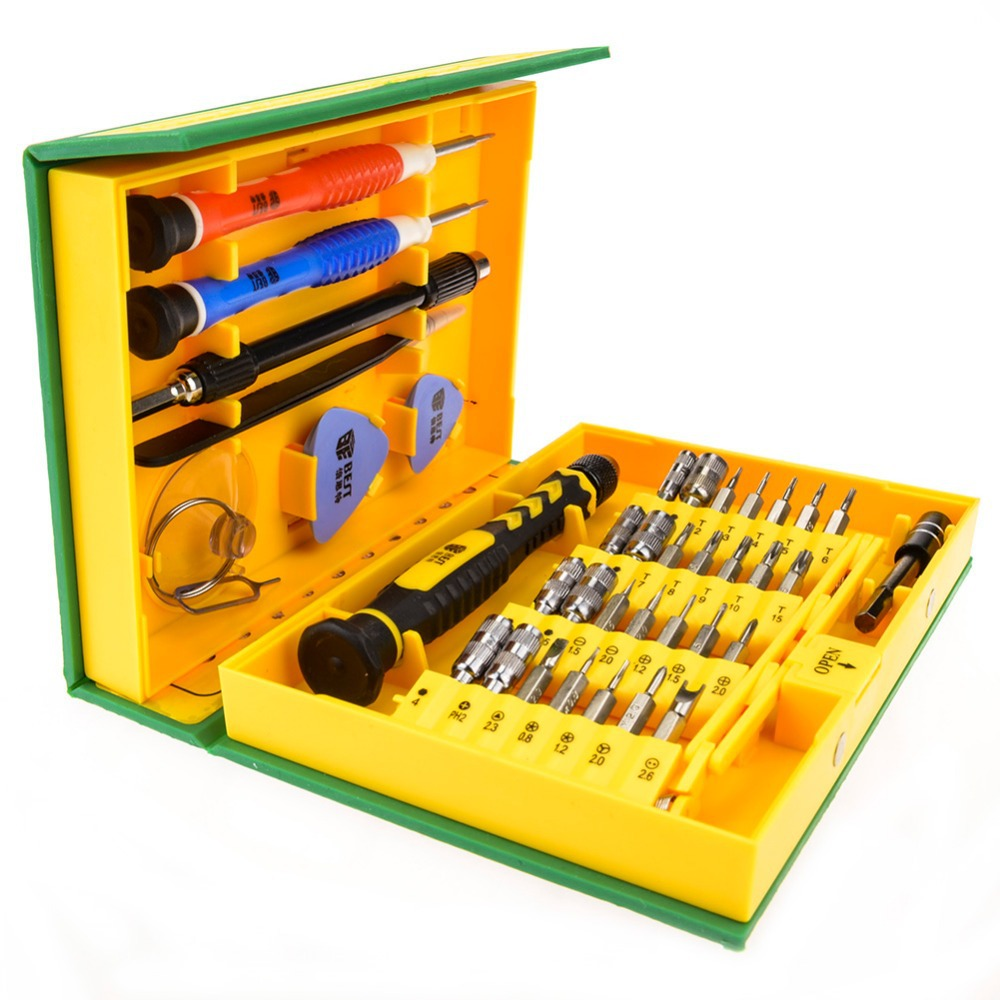 38 in 1Precision Multipurpose Screwdriver Set Repair Opening Tool Kit Fix For iPhone/ laptop/ smartphone/ watch with Box Case 100pcs pack 3 in 1 eyeglass screwdriver sunglass glasses watch repair tool kit with keychain portable screwdriver tool wholesale