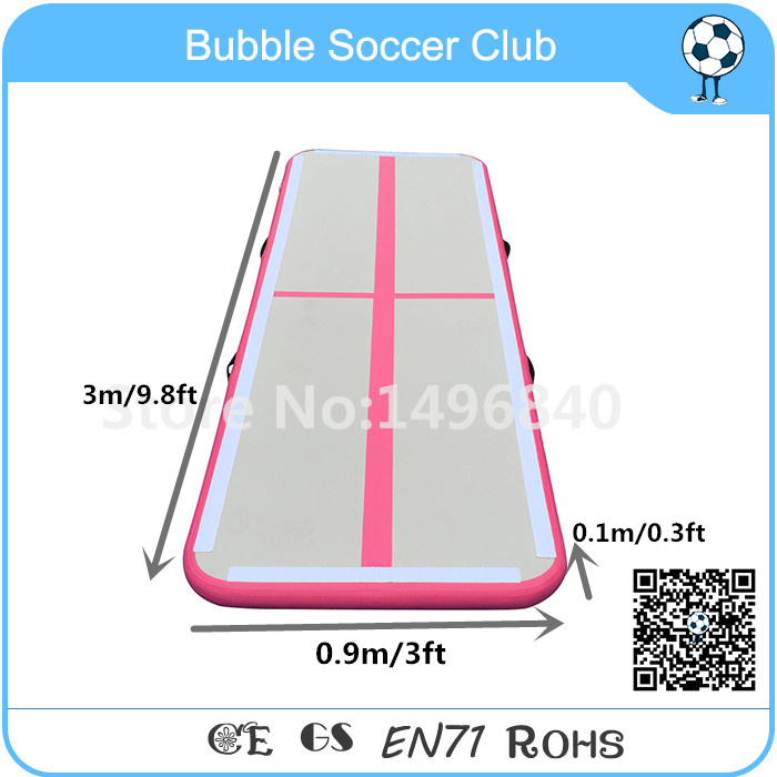 Free Shipping 3x0.9m Pink Inflatable Airtrack,Inflatable Air Tumble Track,Inflatable Gym Mat